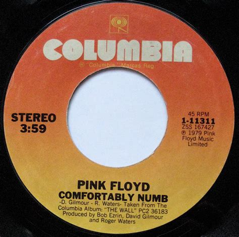 pink flyod comfortably numb pink floyd comfortably numb at discogs