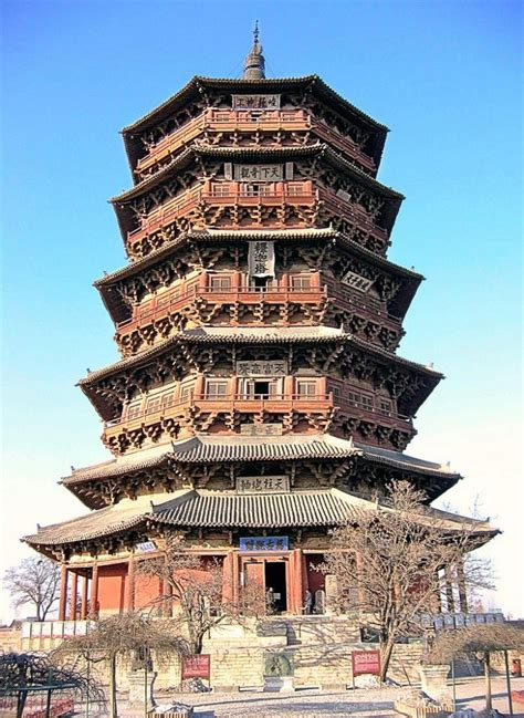 architect in chinese fogong temple yinxian china places of worship pinterest
