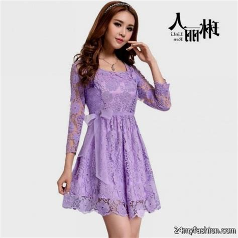 Light Purple Lace Dresses 2016 2017 B2b Fashion