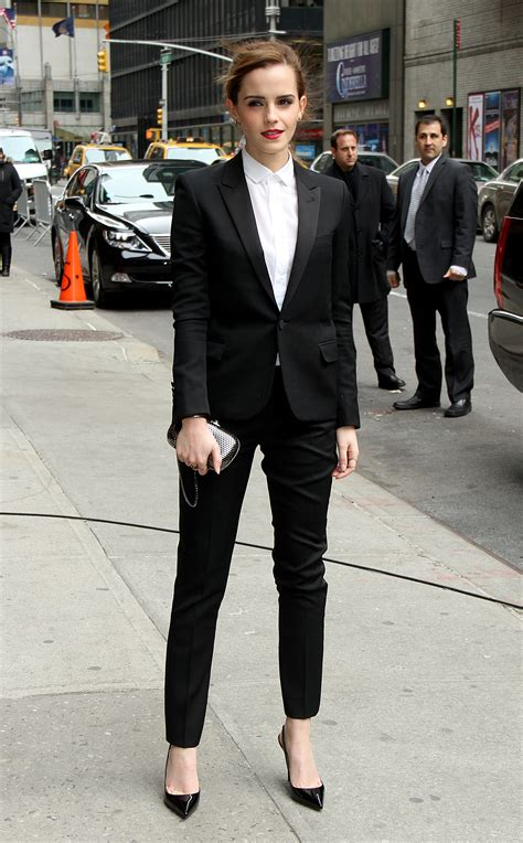 emma watson in suit well played emma watson in ysl go fug yourself