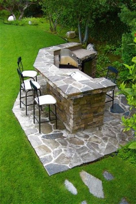 Bbq Is Reinforced Cinder Block Construction Clad With Backyard Grill Bar
