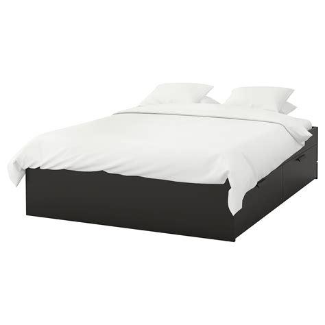 brimnes letto ikea brimnes cadre lit avec rangement noir 140x200 cm ikea