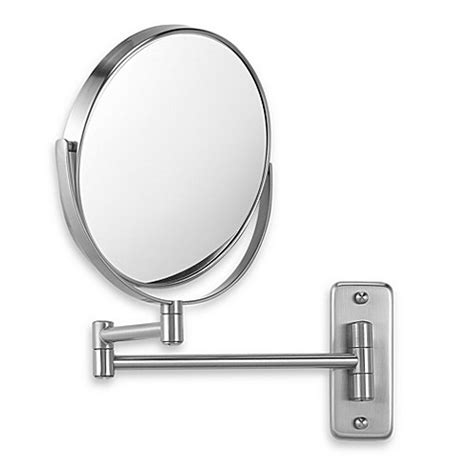 bathroom swivel mirror jerdon wall mount 8x 1x magnifying swivel mirror in nickel