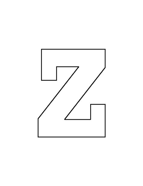 Letter Zee Originals Lowercase Letter Z Pattern Use The Printable Outline For Crafts Creating Stencils