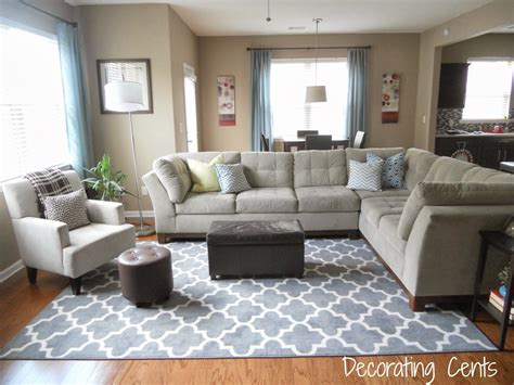 How To Lay A Rug In Living Room by Decorating Cents New Family Room Rug