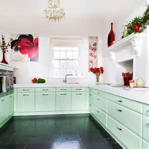Mint Kitchen Cabinets Step Inside This Minty Fresh Country Kitchen Housetohome Co Uk