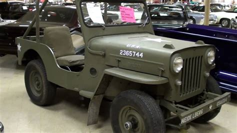 vintage willys jeep vintage willys jeep cj3b military vehicle youtube