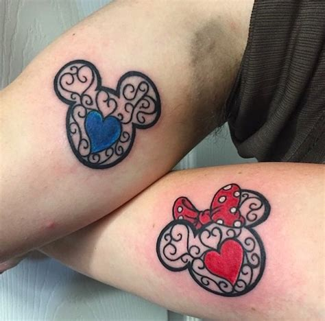 disney couple tattoos awesome tattoos that pay homage to some of the best