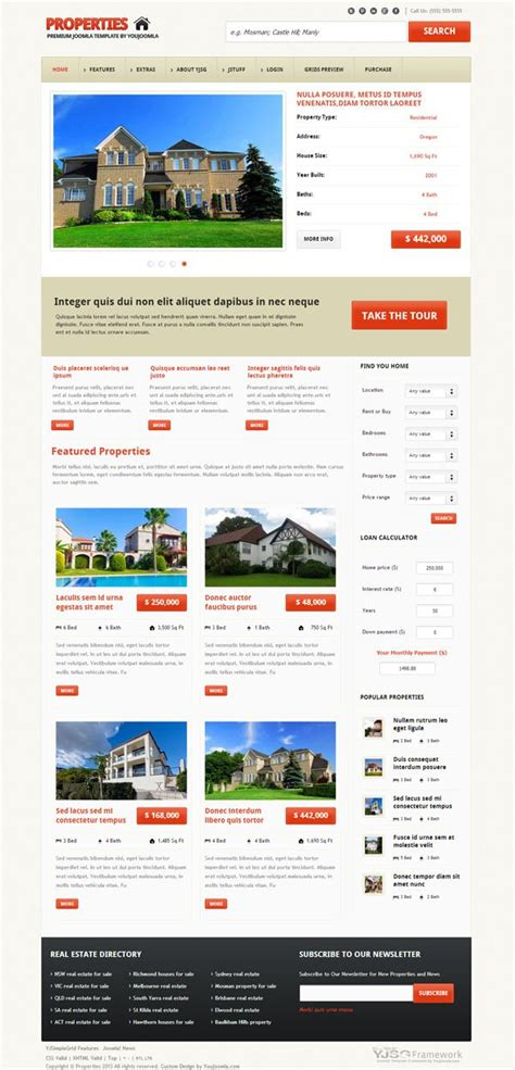 template joomla responsive blog properties responsive real estate joomla template