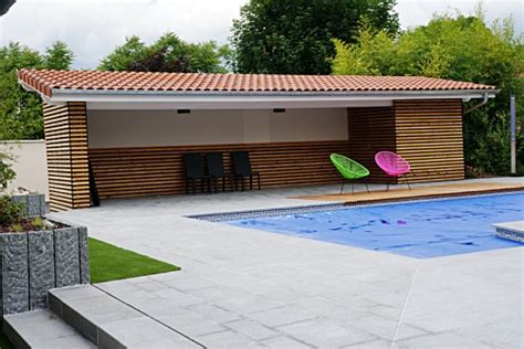 Pool Shed pool house elcc bois menuiserie charpente couverture