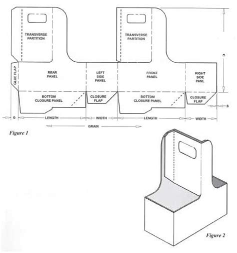 box templates corrugated and folding carton box