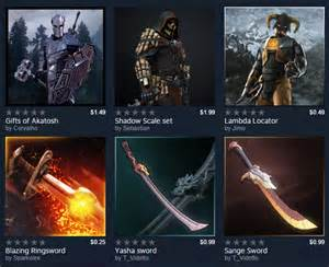 video game mod files steam workshop now lets content creators sell mods but