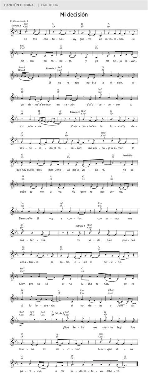 Mi decisión | Canciones, Música canciones y Partituras