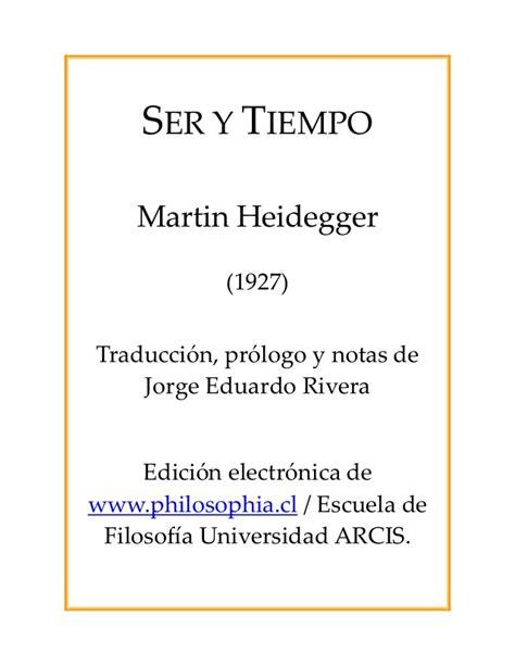ser y tiempo 8498790476 ser y tiempo heidegger