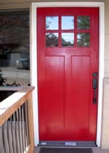 Door installer recommended an auto body shop paint her front door