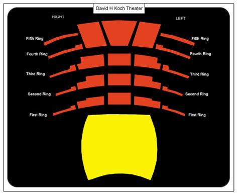 david h koch theater seating chart new york city ballet david h koch theater tickets