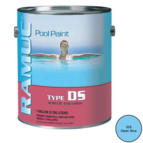 ramuc water based acrylic ds pool paint