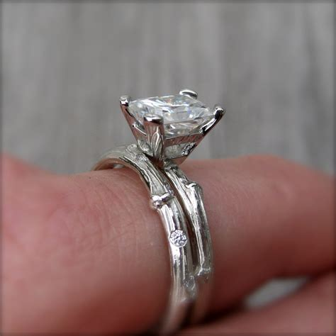Happy Call Ring 1 Diameter 28cm radiant forever one or supernova moissanite twig engagement ring 1 2 carat kristin coffin jewelry