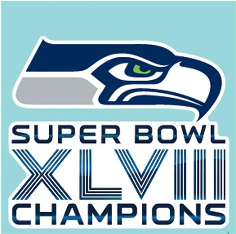 seattle seahawks super bowl chions logo seattle seahawks 2014 super bowl chions 4x4 die cut decal