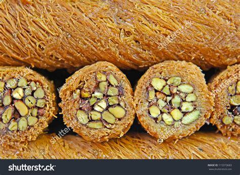 ottoman kadayif turkish kadayif baklava sweet made with honey and