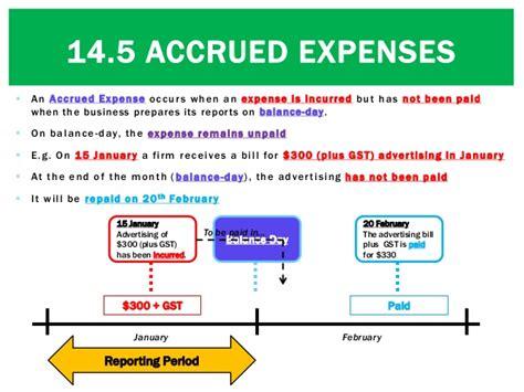 14 5 accrued expenses