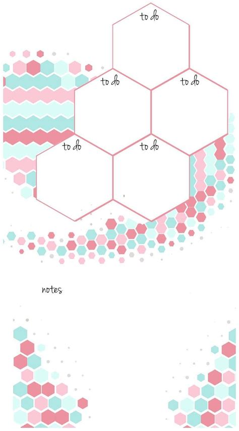 printable a6 planner inserts candy hexagon planner inserts undated a5 a6 week on a