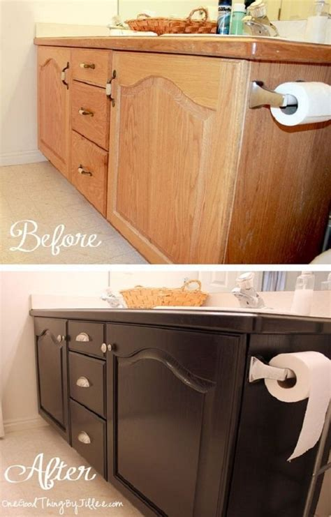 diy bathroom cabinet makeover 12 budget friendly diy remodeling projects for your bathroom
