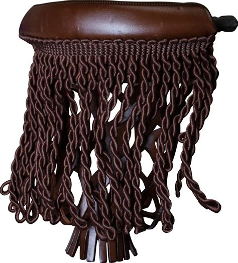 ozone leather pool table pockets with fringe antique brown
