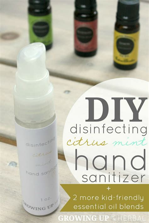 diy essential oils diy disinfecting citrus mint sanitizer 2 more kid