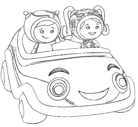 umizoomi car coloring pages kleurplaat umizoomi 4