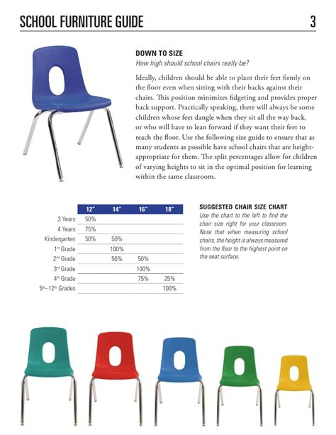 classroom tables and chairs dimensions school furniture buying guide