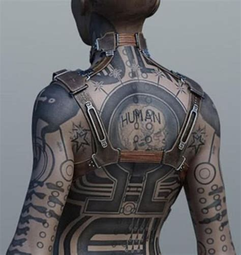 cyberpunk tattoo cyberpunk mass effect and cyberpunk on