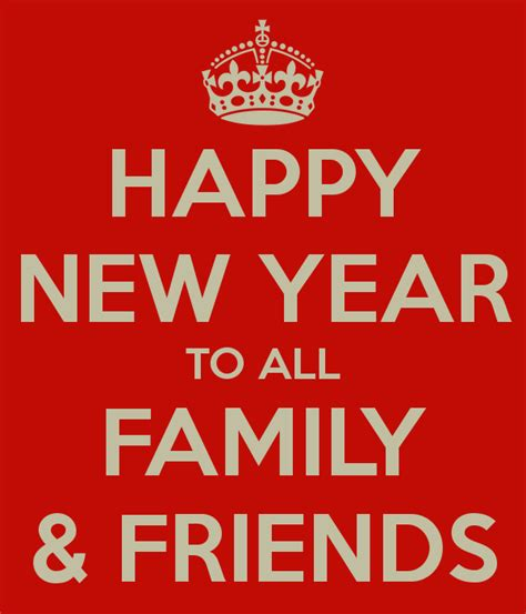happy new year to all family friends poster billy