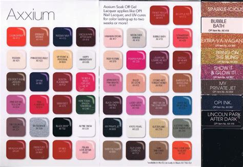 opi color chart opi gel nail colors list nail ftempo