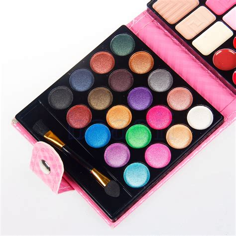 blue 32 colors shimmer eye shadow palette makeup