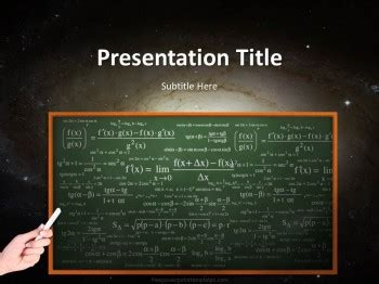 Free Science Powerpoint Template Chalkboard Powerpoint Template For Mac
