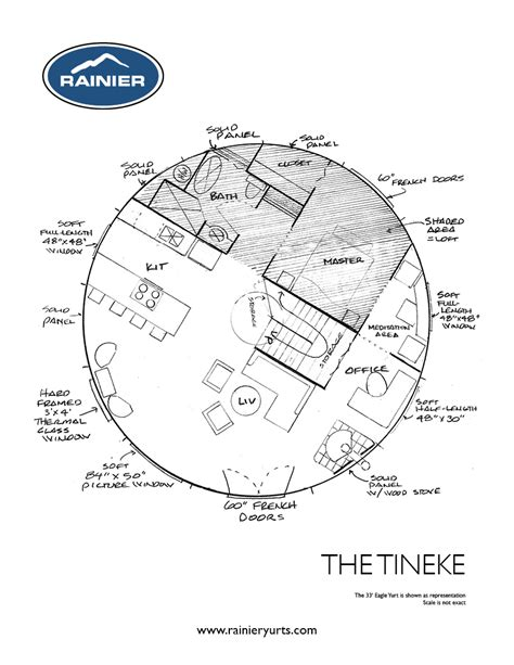 Yurt House Plans Yurt Floor Plans Rainier Yurts