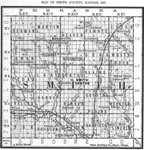 map of smith county smith county schools bibliography kansas historical society