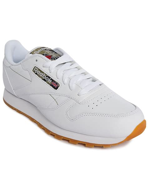 reebox sneakers reebok classic white leather gumsole sneakers in white for