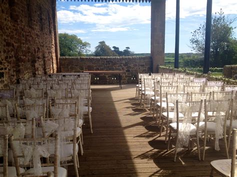 Lace sash hire at newton hall and high house farm in northumberlandstyled amp seated
