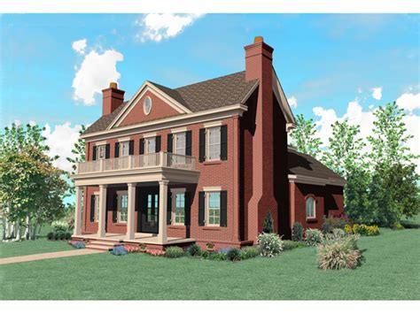brick house plans with front porch warson hill georgian brick home plan 087s 0185 house plans and more