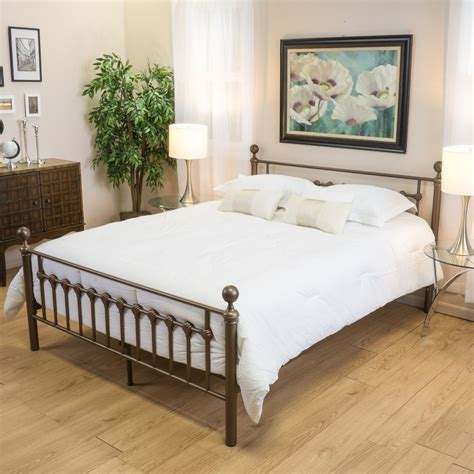 ebay bed frame bedroom furniture brown iron metal size bed frame ebay