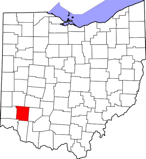 Warren County Ohio Property Records File Map Of Ohio Highlighting Warren County Svg