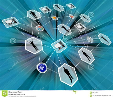 computer network themes network stock photo image 48610451