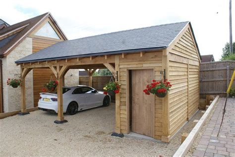 car port plans oak double bay garage with side store decorating ideas