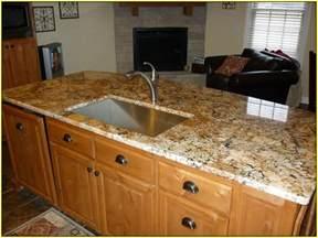 Santa Cecilia Granite Backsplash Ideas - rainforest brown granite countertop home design ideas