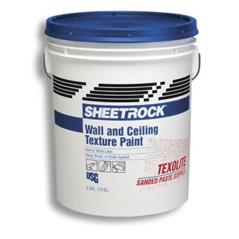 sheetrock brand texolite 5 gal wall and ceiling texture