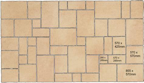 Patio Patterns 4 Sizes by Slabbing Patterns