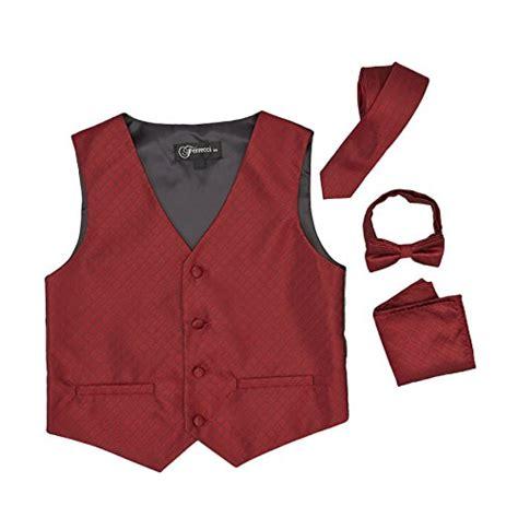 vest and clip on necktie set colors baby infant