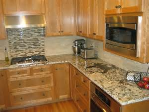 Ideas For Kitchen Countertops And Backsplashes granite countertops and tile backsplash ideas home